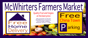 Designed by Achoo Advertising for McWhirters Farmers Market